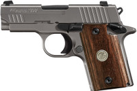 SIG P938 9MM ASE 3 NIGHT SIGT STAINLESS 7-SH WALNUT (TALO) 4063