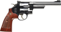 S&W 27 CLASSIC .357 6.5 AS BLUED CHECKERED WOOD GRIPS