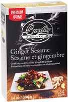 BRADLEY SMOKER GINGER & SESAME BISQUETTES 24 PACK