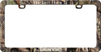 BROWNING LICENSE PLATE FRAME W/LOGO AND BUCKMARK CAMOFLAGE<