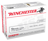 WIN AMMO USA 9MM LUGER 115GR. FMJ-RN 100-VALUE PACK