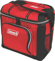 COLEMAN SOFT SIDED 16 CAN COOLER RED W/ LINER