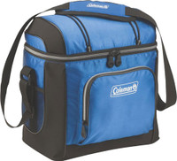 COLEMAN SOFT SIDED 16 CAN COOLER BLUE W/ LINER