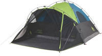 COLEMAN CARLSBAD DARKROOM DOME TENT W/SCREEN ROOM 6 PERSON