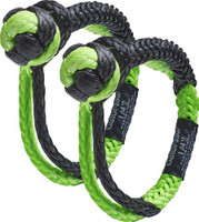 BUBBA ROPE MINI GATOR JAW 1/4 SYNTHETIC SHACKLES BLACK/GREEN