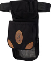 BG LONA CANVAS SHELL POUCH DELUXE W/BELT BLACK/BROWN