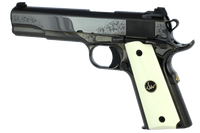 Dan Wesson 01945 1911 50th Anniversary Single 45 Automatic Colt Pistol (ACP) 5 8+1 Ivory G10 w/DW Medallion Grip Black Nitride*