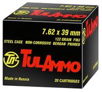 Tulammo UL076210 Centerfire Rifle 7.62X39mm 122 GR FMJ 100 Rounds*