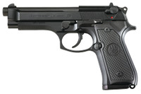BER Model 92 M9 Commercial 9mm 4.9 Inch Barrel Bruniton Finish Two Dot Sights Plastic Grips 15 Round