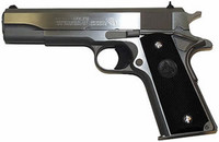 Colt Government .38 Super 5 Inch Barrel Stainless Steel Finish Black Grips 9 Round