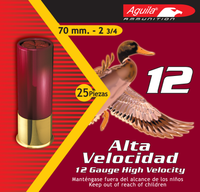 Aguila 1CHB1202 Field High Velocity 12 Gauge 2.75 Lead 1-1/4 oz 2 25 Bx/ 10 Cs