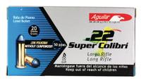 COI Aguila .22 Super Colibri 20 Grain Solid Point Rimfire Ammunition