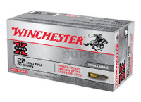 WIN Super-X .22 Long Rifle 40 Grain Plated Power-Point 100 Per Box	 Super-X High Velocity Rimfire