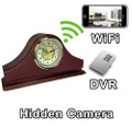 WiFi Series Mantel Clock Hidden Camera Spy Camera Nanny Cam WiFi Remote Viewing from iPhone Android PC