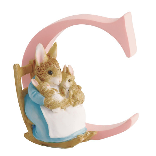 Beatrix Potter Classic - C Letter Mrs Rabbit & Carrot Figurine