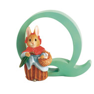 Letter Q Mrs Rabbit Figurine - Beatrix Potter Classic