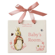 Girls Flopsy Door Plaque - Beatrix Potter Classic