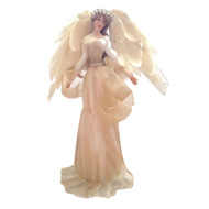Gold/Ivory Angel w Feathered Wings