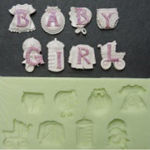 Baby Girl Silicone Mould