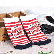 Baby Christmas North Pole Socks