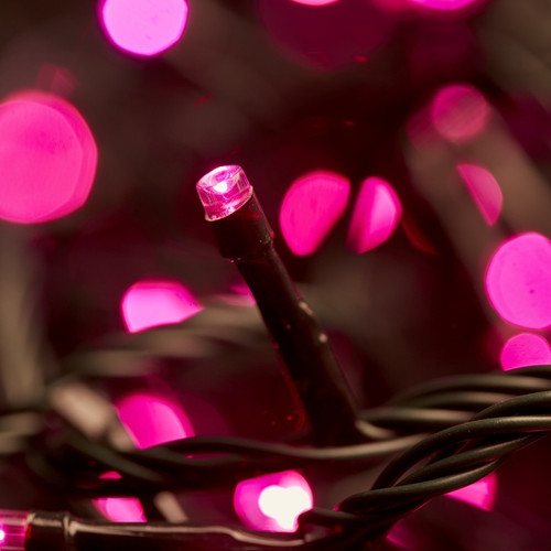 100pc Connectable LED Fairy Lights - Pink