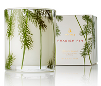 Thymes Frasier Fir Poured Candle Pine Needle Design