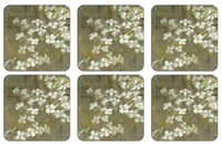 Pimpernel Dogwood in Spring Coasters S/6 4x4