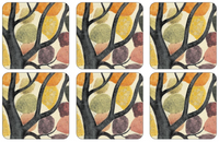 Pimpernel Dancing Branches Coasters S/6 4x4