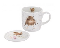 Portmeirion Wrendale Designs Flying the Nest Mug & Coaster Set