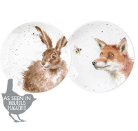 Portmeirion Wrendale Designs Coupe Plates Fox and Hare