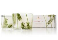 Frasier Fir Pine Needle Design Candle Set