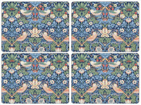 Pimpernel Strawberry Thief Blue Placemats s/4 16x12""