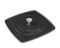 Staub Cast Iron Grill Panini Press Black 12""