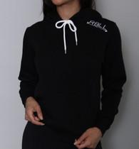 RBLL Black Shoulder Logo Pullover Hoodie
