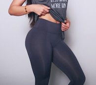 """RBLL Signature """"Hourglass"""" Legging in Charcoal Grey"""