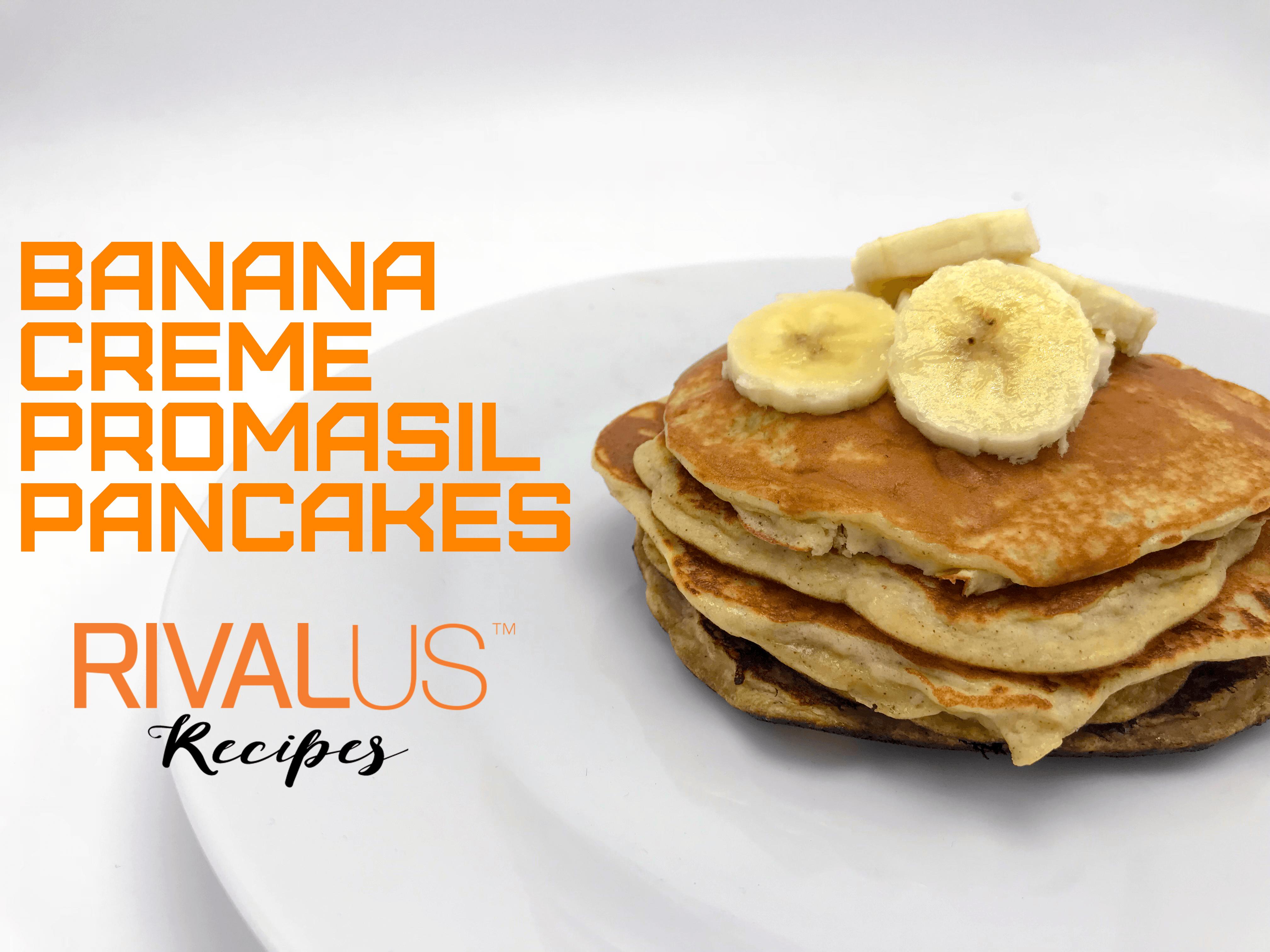 Banana Creme Promasil Pancakes
