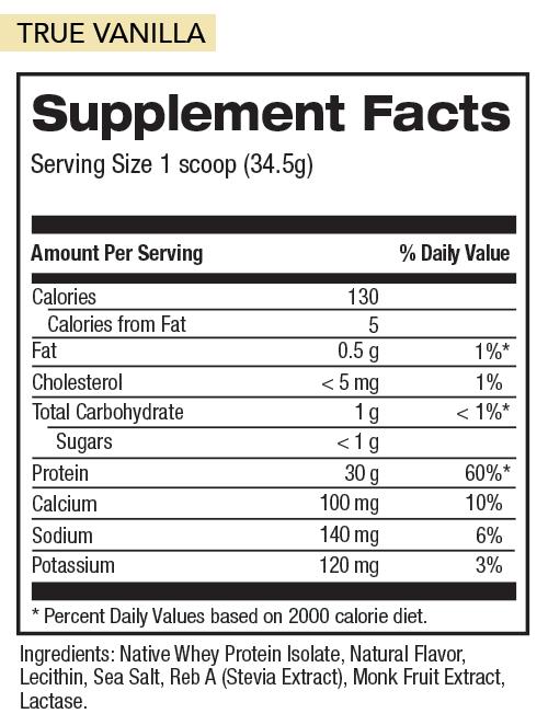 Vanilla Nutrition