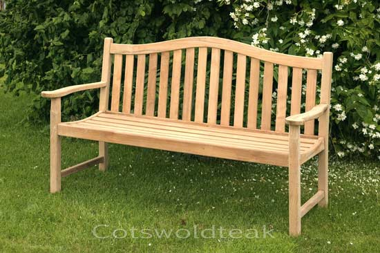 Teak 3 Seater Arch Backed Bench