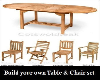 teak-table-and-chair-3.jpg build-your-own.jpg  sc 1 st  Cotswold Teak & Cheap Teak Garden Furniture Sets UK