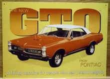 Photo of 1967 PONTIAC GTO, GREAT COLORS AND DETAIL MAKE THIS A GREAT SIGN FOR ANY GTO COLLECTOR
