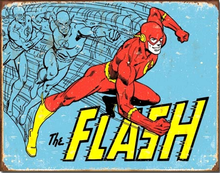 Photo of FLASH RETRO COMIC BOOK SIGN, GREAT COLOR AND DETAILS