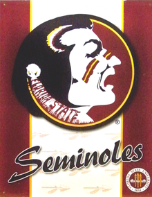 Photo of FLORIDA SEMINOLE FAN EMBOSSED COLLEGE SIGN