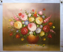 Photo of FLOWERS IN VASE SIZED OIL PAINTING
