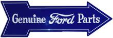 "FORD ARROW SHAPED SIGN ""GENUINE FORD PARTS, CRISP DETAILS, RICH COLOR"