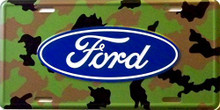 Photo of FORD CAMO LICENSE PLATE