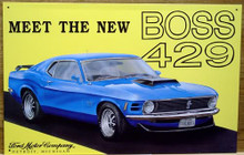 Photo of FORD MUSTANG BOSS 302 SIGN  BOLD COLORS EXCELLENT DETAILS