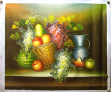 FRUIT & PITCHER OIL PAINTING
