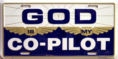 GOD IS MY COPILOT LICENSE PLATE