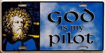 GOD IS MY PILOT LICENSE PLATE