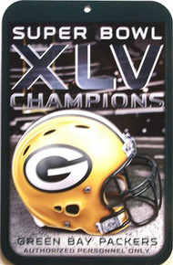 GREEN BAY PACKERS FOOTBALL SUPER BOWL CHAMPS SIGN, RICH COLORS AND GREAT DETAILS